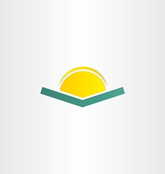 Book and sun simple icon vector