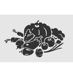Emblem vegetables vector