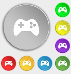 Joystick sign icon video game symbol symbols on vector