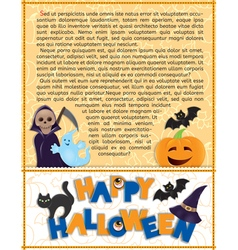 Halloween background with text vector