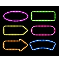 Neon signboards vector