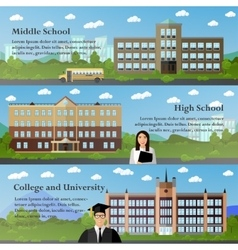 School and university buildings vector