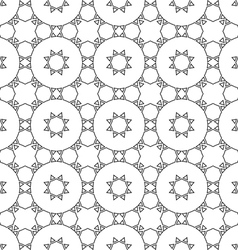 Delicate seamless ethnic pattern vector image