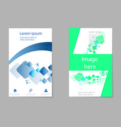 brochure template design with cubes and abstract vector image