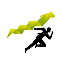 Businessman and arrow icon vector