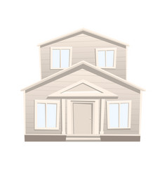cartoon house isolated on white background vector image vector image