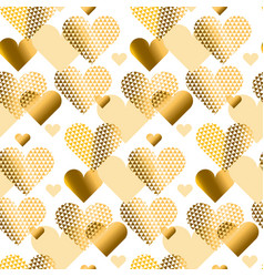 Gold love concept icon repeatable motif for vector