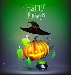 Happy halloween doodle set vector