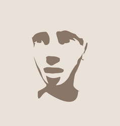 head silhouette face front view vector image vector image
