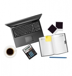 office background vector image vector image