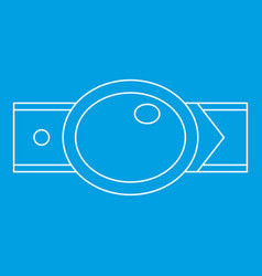 Oval shaped buckle icon outline style vector