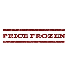 Price frozen watermark stamp vector