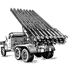 reactive artillery bm 13 katyusha vector image