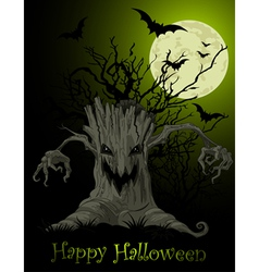 Scary tree background vector