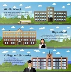 School and university buildings vector image vector image