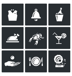 Set of Restaurant Icons Waiter Call vector image vector image