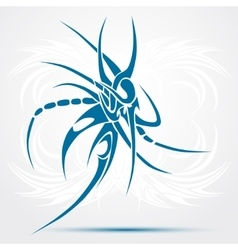 Sharp tribal tattoo Blue vector image