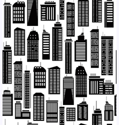 Skyscraper seamless pattern vector