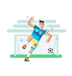 Soccer player flat design vector image