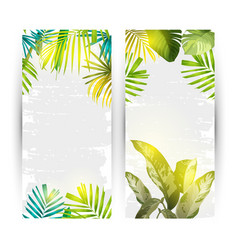 Summer vertical banner vector