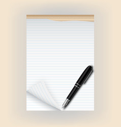 Tear pad with pen vector image