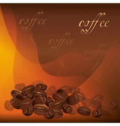 Coffee background with beans vector image