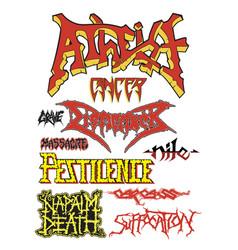 old school death metal vector image