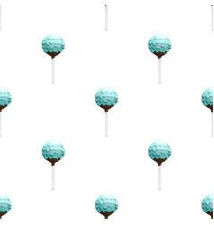 Cake pops seamless pattern vector
