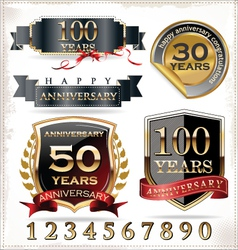 Anniversary labels vector