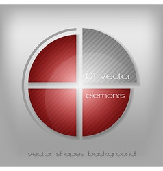 Business circle red gray vector