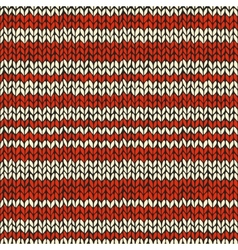 Sea mless pattern with knitted stripes vector