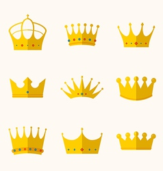 Vintage antique crowns vector