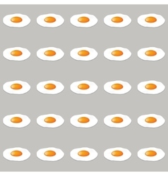 Eggs seamless pattern vector
