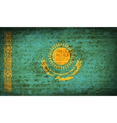 Flags kazakhstan with dirty paper texture vector