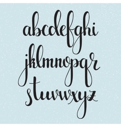 Handwritten brush style calligraphy cursive font vector