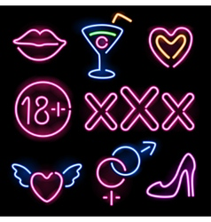 neon sexy vector image