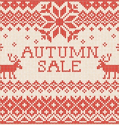 Autumn sale scandinavian style seamless knitted vector