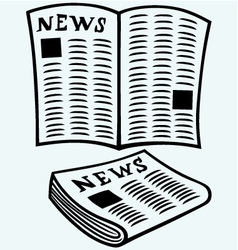 Newspaper news vector