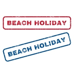 Beach holiday rubber stamps vector