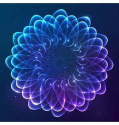 Blue abstract cosmic background vector image