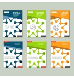 brochures with abstract figures Design vector image vector image