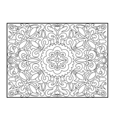 Carpet coloring book for adults vector image vector image
