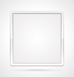 clean white frame vector image