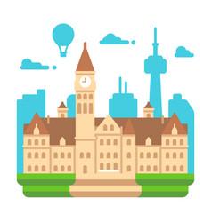 flat design toronto old city hall vector image
