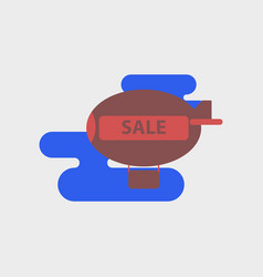 Flat icon of air balloon sale vector