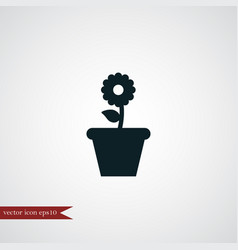 Flower icon simple vector