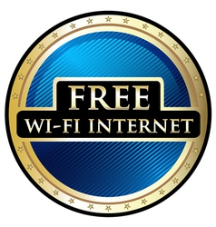 Free wifi label vector
