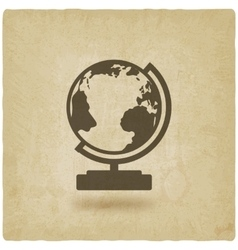 globe design element old background vector image vector image