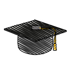 graduation toga hat vector image
