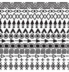 hand drawn ethnic background tribal seamless vector image vector image